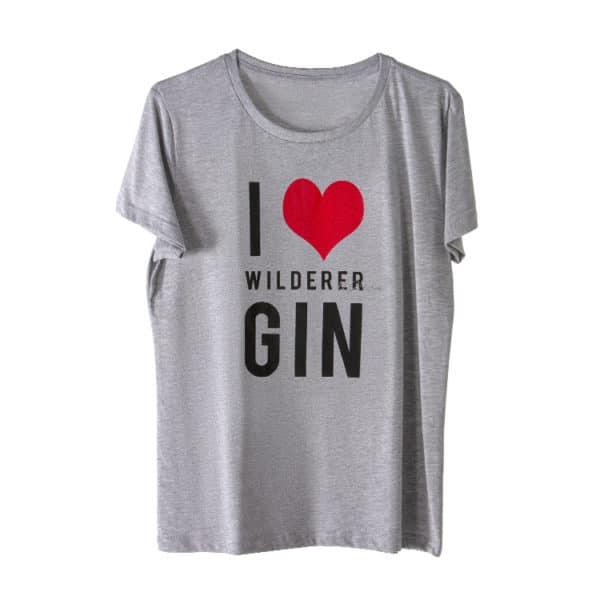 Wilderer I LOVE GIN Gholf T Shirt Melange 1 2