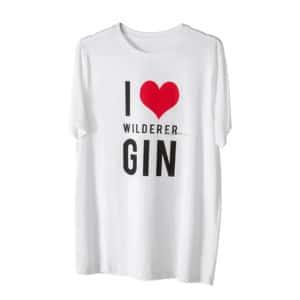 Wilderer I LOVE GIN T Shirt White 1